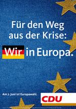 CDU Wahlplakat zur Europawahl 2009