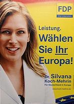 Fdp Partei Plakat zur Europawahl 2009