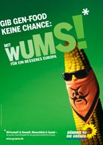 Wahlplakat der GRÜNEN zur Europawahl 2009