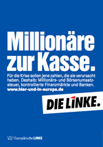 Die Linke Wahlplakat zur Europawahl 2009