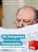 SPD Wahlwerbeplakat zur Europawahl 2009