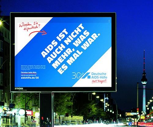 Kampagne 30 Jahre Deutsche Aidshilfe