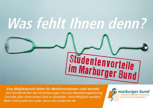 Der Marburger Bund ist die gewerkschaftliche, gesundheits- und berufspolitische Interessenvertretung aller angestellten und beamteten Ärztinnen und Ärzte in Deutschland