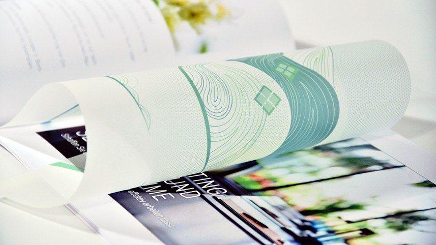 kakoii Berlin Werbeagentur @AROMA – DUFTMARKETING - Infobroschüre, transparente Seiten