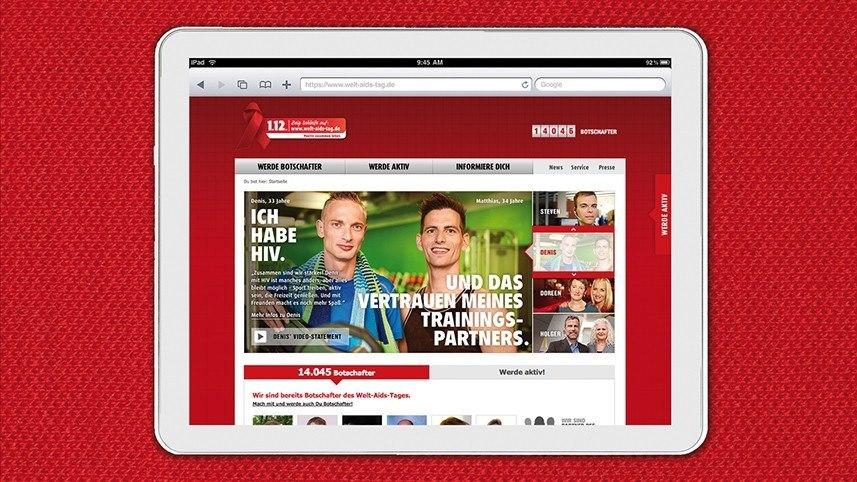 Kakoii Berlin Werbeagentur BZgA Weltaidstag Kampagnenportal.