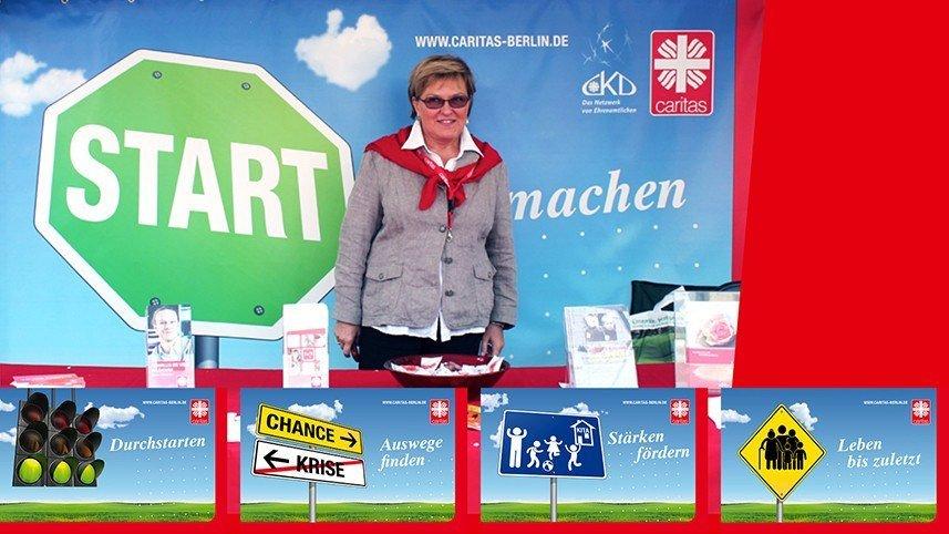 Werbeagentur Kakoii Berlin - Caritas. Außenauftritt.
