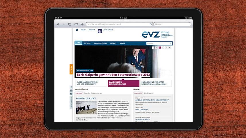 Kakoii Berlin Werbeagentur EVZ. Webauftritt.