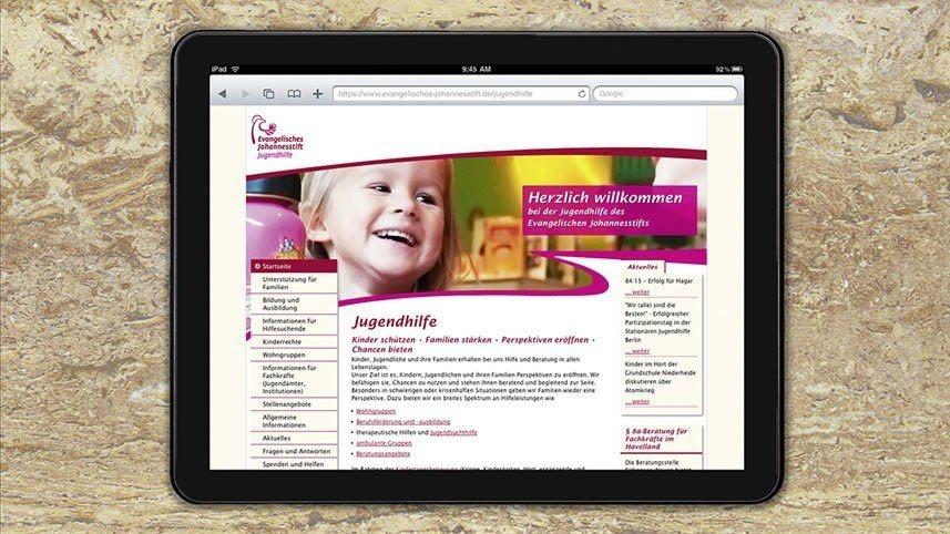 kakoii Berlin Werbeagentur - Webrelaunch Evangelischer Johannesstift Berlin - Optimierung